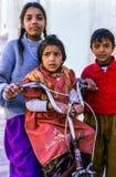 Enfants à Delhi, Inde Photos libres de droits