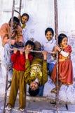 Enfants à Delhi, Inde Photographie stock libre de droits