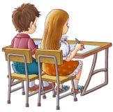 Enfants à l'école illustration stock