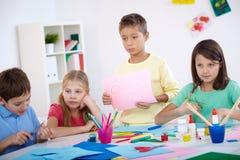 Enfants à la leçon Image libre de droits