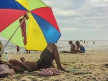 Enfants à la plage Images libres de droits