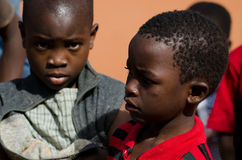 Enfants africains à l'école Photos stock