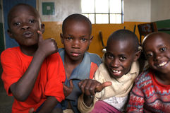 Enfants africains Photos libres de droits