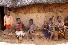 Enfants africains Image stock