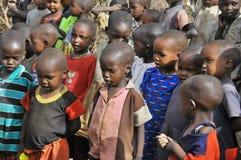 Enfants africains de tribu de masai Photographie stock libre de droits