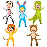 Enfants animaux de costume Images libres de droits