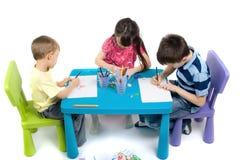 Enfants artistiques Photos stock