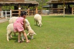 Enfants asiatiques jouant dans la ferme Photos libres de droits