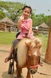 Enfants asiatiques jouant dans la ferme Photo stock