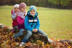 Enfants au jeu en parc Image stock