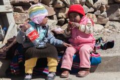 Enfants au Pérou Images stock