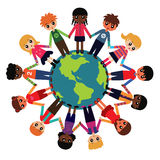 Enfants autour du monde Image stock