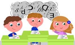 Enfants avec des difficultés d'étude Image stock