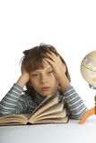 Enfants avec des livres Photos stock