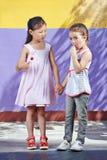 Enfants avec des lucettes Photographie stock