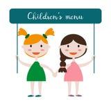 Enfants avec l'affiche illustration stock