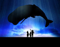 Enfants avec la baleine Photos libres de droits