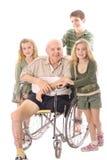 Enfants avec le père photos stock