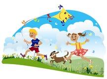 Enfants ayant l'amusement Photos libres de droits