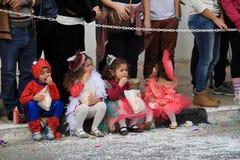 Enfants. Carnaval en Chypre. Images stock