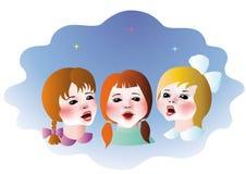 Enfants chanteurs Image libre de droits