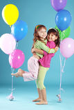 Enfants colorés heureux Image stock