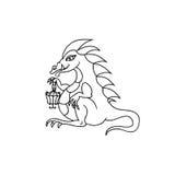 Enfants colorant la page de dragon Image libre de droits