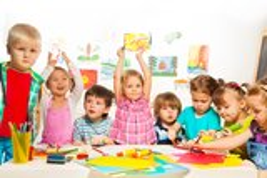 Enfants créatifs Images libres de droits