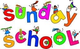 Enfants d'école du dimanche illustration stock