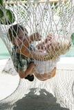 Enfants d'été dans l'hamac Photo stock
