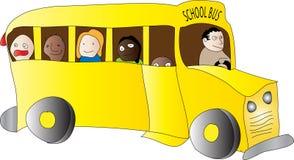 Enfants d'autobus scolaire Images libres de droits