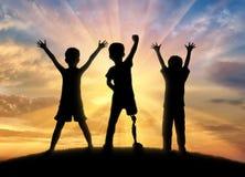 Enfants d'enfance avec le concept d'incapacités Photos libres de droits