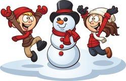 Enfants d'hiver illustration de vecteur