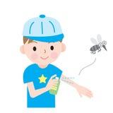 Enfants d'insectifuge illustration libre de droits