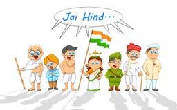 Enfants dans costumé du combattant indien de liberté Photographie stock libre de droits