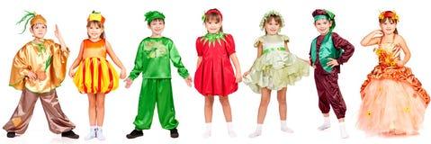 Enfants dans costumé lumineux Photos stock