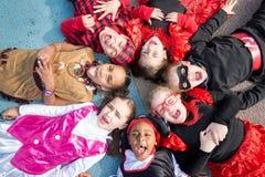 Enfants dans des costumes Image stock
