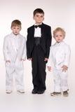 Enfants dans des procès d'affaires Images stock