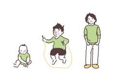 Enfants dans des vêtements verts illustration de vecteur