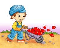 Enfants dans l'amour Images libres de droits