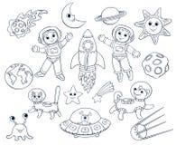 Enfants dans l'espace illustration stock