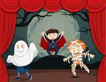 Enfants dans l'exposition d'horreur illustration de vecteur