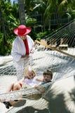Enfants dans l'hamac Photographie stock