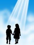 Enfants dans la lumière Photos libres de droits