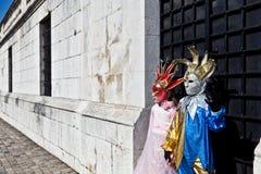 Enfants dans le costume vénitien Photographie stock
