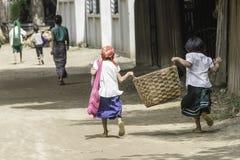 Enfants dans le païen Images stock