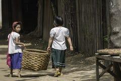 Enfants dans le païen Image libre de droits