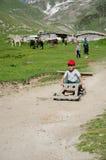 Enfants dans le village photographie stock