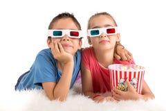 Enfants dans les films Images stock