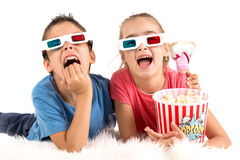 Enfants dans les films Photo stock